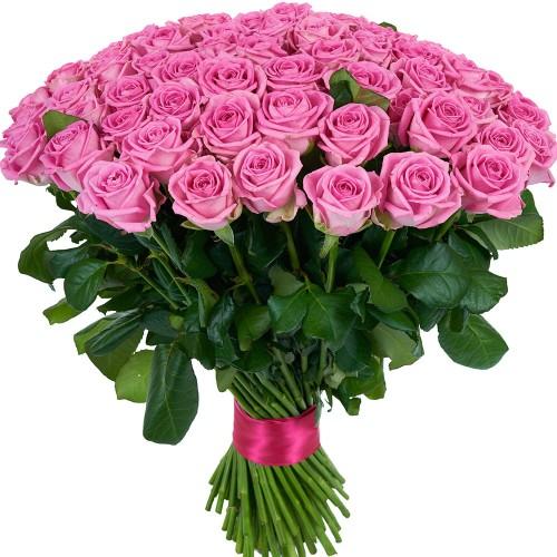 Купить на заказ Букет из 101 розовой розы с доставкой в Сарани