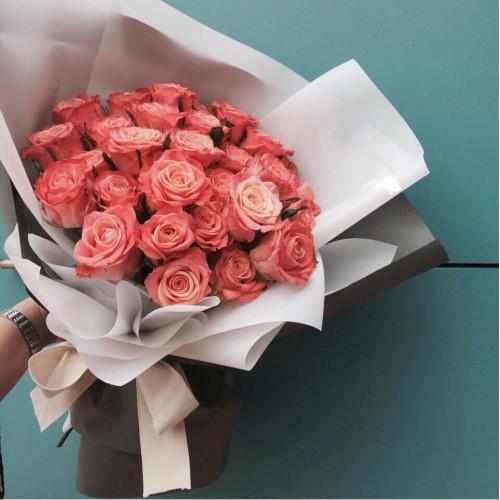 Купить на заказ Букет из 31 розовой розы с доставкой в Сарани