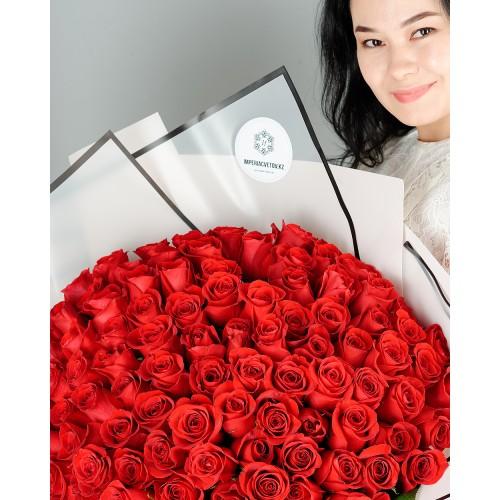 Купить на заказ Букет из 101 красной розы с доставкой в Сарани