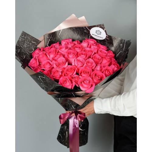 Купить на заказ Букет из 51 розовых роз с доставкой в Сарани