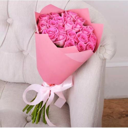 Купить на заказ Букет из 21 розовой розы с доставкой в Сарани