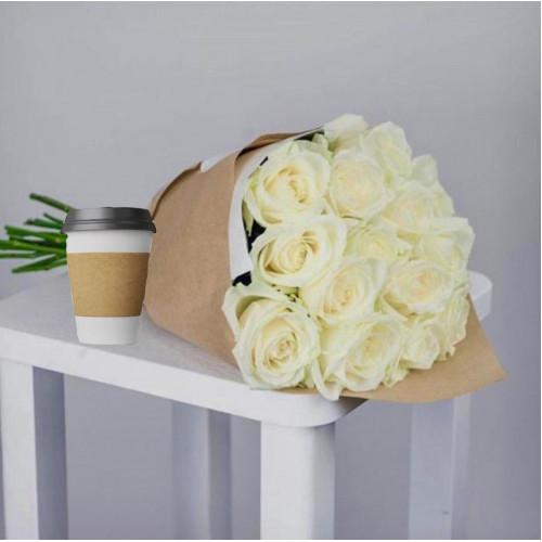 Купить на заказ Кофе с цветами с доставкой в Сарани