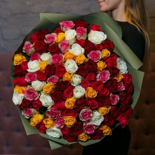 Купить на заказ Букет из 101 розы (микс) с доставкой в Сарани